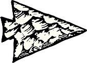 Arrowhead Clipart EPS Images 1838 Arrowhead Clip Art