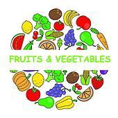 Fruits vegetables Clip Art Vector Graphics. 28,109 fruits ...