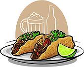 tacos clipart and illustration 2 199 tacos clip art Taco Salad Clip Art Shrimp Clip Art Food