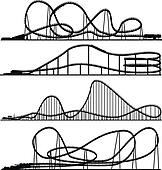 Roller coaster Clip Art Royalty Free. 1,739 roller coaster clipart ...