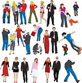 Group people Stock Illustration Images. 68,727 group people ...