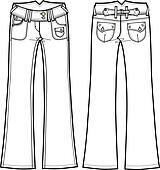 Clipart Of Jeans