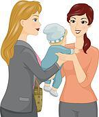 Babysitting Clipart Vector Graphics. 583 babysitting EPS ...