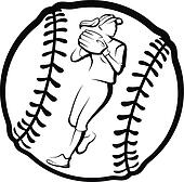 Clip Art Clipart Softball softball clip art and illustration 3228 clipart vector player bat