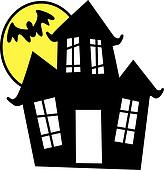 Haunted house Clipart and Illustration. 2,799 haunted house clip ...