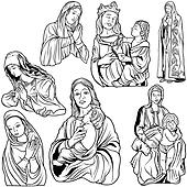 Virgin mary Clip Art Vector Graphics. 1,290 virgin mary EPS ...