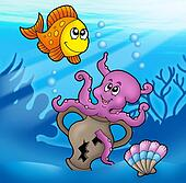 Octopus illustrations and clip art 1 359 octopus royalty for Blue fish pediatrics