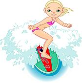 Clip Art Surfing Clip Art surfing clip art royalty free 16138 clipart vector eps girl surfing