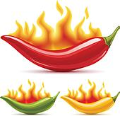 Red chili pepper Clip Art Illustrations. 2,464 red chili pepper ...