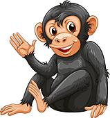 Clip Art Chimpanzee Clipart chimpanzee clip art royalty free 3092 clipart vector pictures