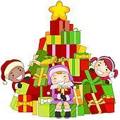 Christmas Gift Exchange Clip Art