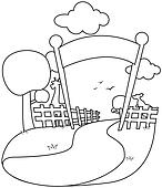 Zoo Entrance Clip Art Black And White