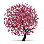 Fruit tree Clip Art Vector Graphics. 11,164 fruit tree EPS clipart ...