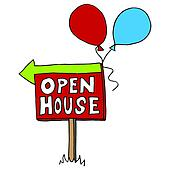 Open house Clip Art Royalty Free. 6,890 open house clipart ...