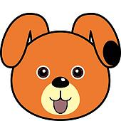 clipart dog face - photo #16