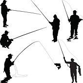 Clip Art Fisherman Clipart fisherman clipart and illustration 5106 clip art silhouette boat