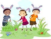 Clip Art Easter Egg Hunt Clip Art easter egg hunt illustrations and stock art 1221 children