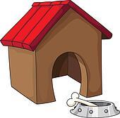 Clip Art Dog House Clipart dog house clipart vector graphics 4647 eps clip art illustration