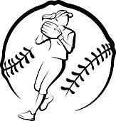 Softball Clip Art and Illustration. 3,436 softball clipart vector ...