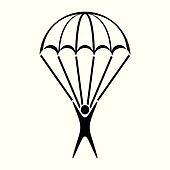Clip Art Parachute Clipart parachute clipart royalty free 2528 clip art vector jumper icon