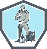 Janitor Clipart Vector Graphics. 805 janitor EPS clip art vector ...