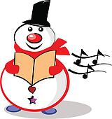 Christmas carol Clip Art EPS Images. 509 christmas carol ...