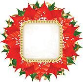 Christmas poinsettia stock photos and images 8 123 for Poinsettia christmas tree frame