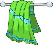 Kitchen Towel Clipart Vector Graphics 217 Kitchen Towel EPS Clip Art
