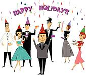 New years party Clipart Illustrations. 56,435 new years party clip ...