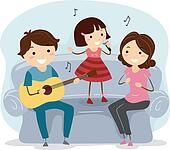 Children singing Clipart Royalty Free. 2,037 children ...