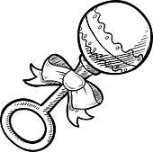 Baby Rattle Clip Art