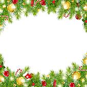 Clip Art Christmas Borders Clipart christmas border clip art illustrations 25005 garland border