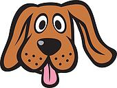clipart dog face - photo #9