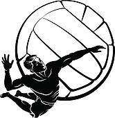 Volleyball Clip Art and Illustration. 7,542 volleyball clipart ...