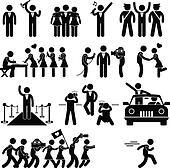 Celebrity Clipart EPS Images. 4,446 celebrity clip art vector ...