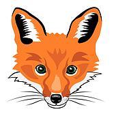 Clip Art Clip Art Fox fox clipart vector graphics 8383 eps clip art and flying head