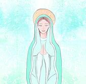 Virgin mary Stock Illustration Images. 264 virgin mary ...