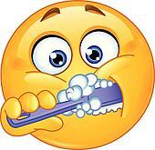 Clip Art Brushing Teeth Clipart brushing teeth clip art illustrations 3863 man teeth