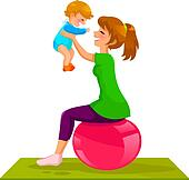 Mother baby Clip Art Royalty Free. 18,318 mother baby clipart ...