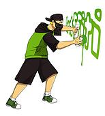 Graffiti spray Stock Illustrations. 2,050 graffiti spray clip art ...