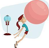 Clip Art Bubble Gum Clipart bubble gum clipart eps images 362 clip art vector girl blowing gum