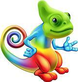 Clip Art Chameleon Clipart chameleon clipart illustrations 1335 clip art vector small cute red