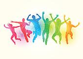 Jumping people Clip Art and Illustration. 20,635 jumping people ...