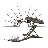 Beach chair Clipart Royalty Free. 4,111 beach chair clip ...