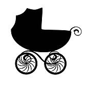 Clip Art Baby Carriage Clipart baby carriage clip art and illustration 5920 young mother vintage carriage