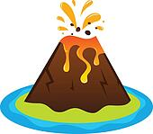 Clip Art Clipart Volcano volcano clipart and illustration 1953 clip art vector active volcano
