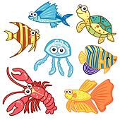 Sea animal Clip Art Royalty Free. 34,657 sea animal clipart vector ...