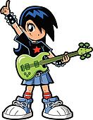 Clip Art Rock Star Clip Art rock star clip art eps images 4494 clipart vector girl