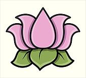 Clip Art Lotus Flower Clip Art lotus flower clipart and illustration 7699 clip art art