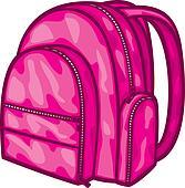 School bag Clipart EPS Images. 7,438 school bag clip art vector ...